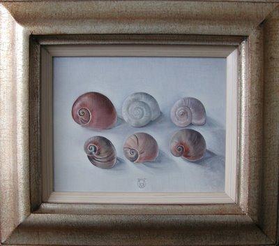 Pink Snails by Hanneke van Oosterhout