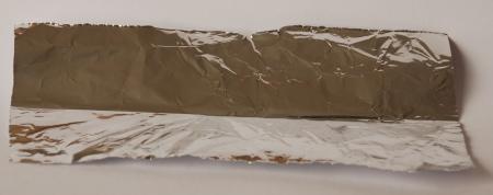 fold the foil in half